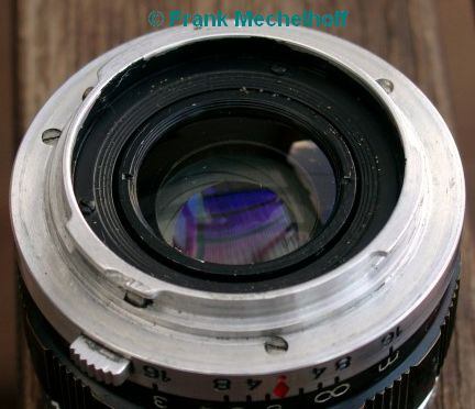 Back view of the 54mm lens